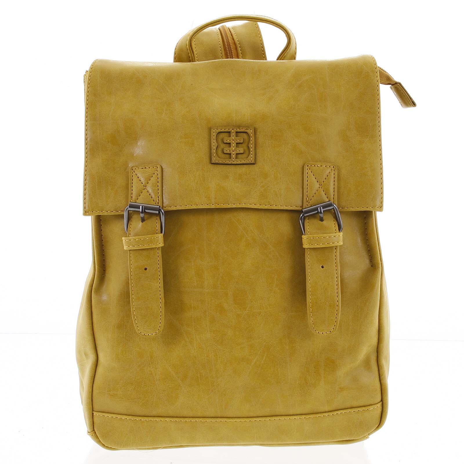 Módny štýlový stredný batoh okrovo žltý - Enrico Benetti Traverz