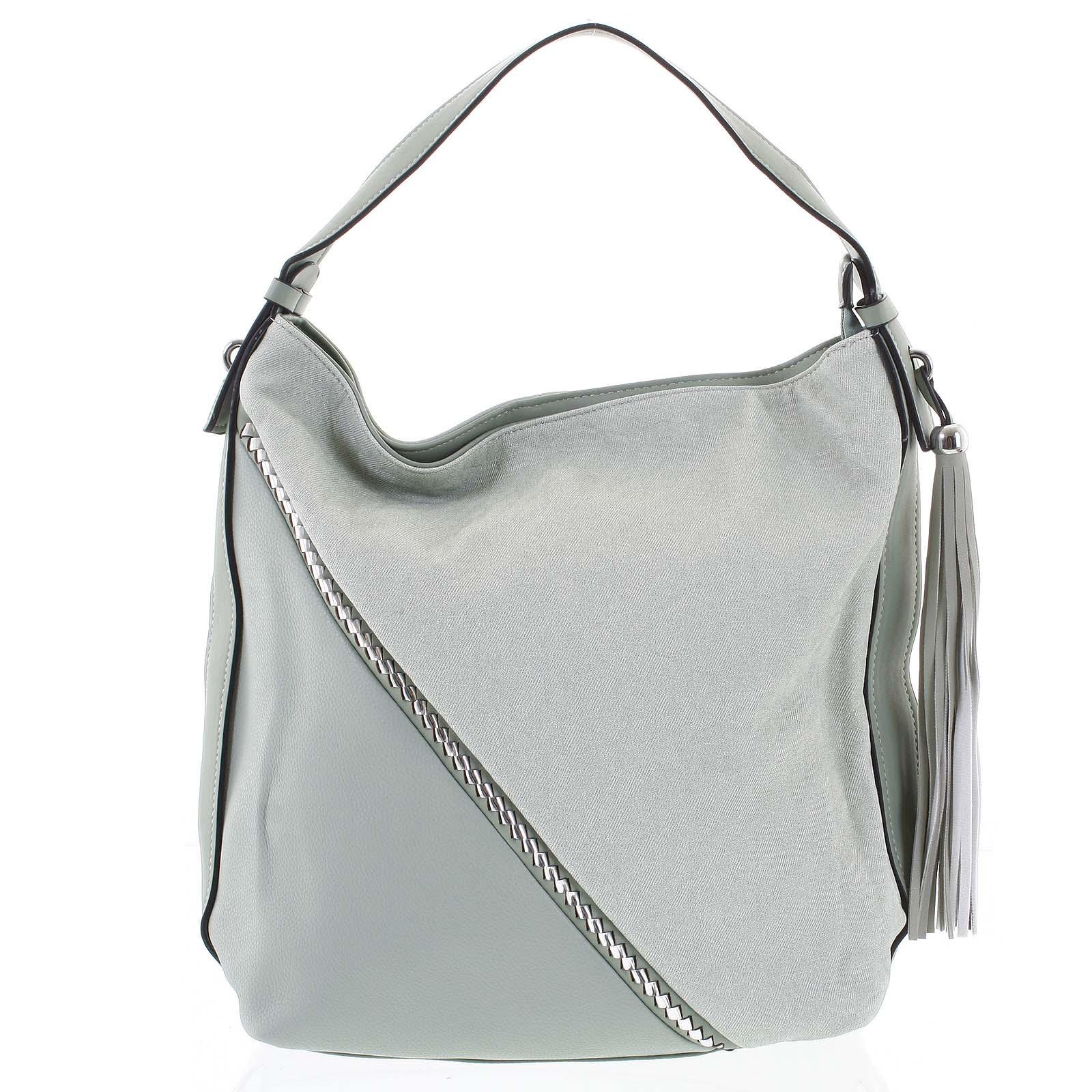 Originálna zelená dámska kabelka cez plece - Maria C Megumi