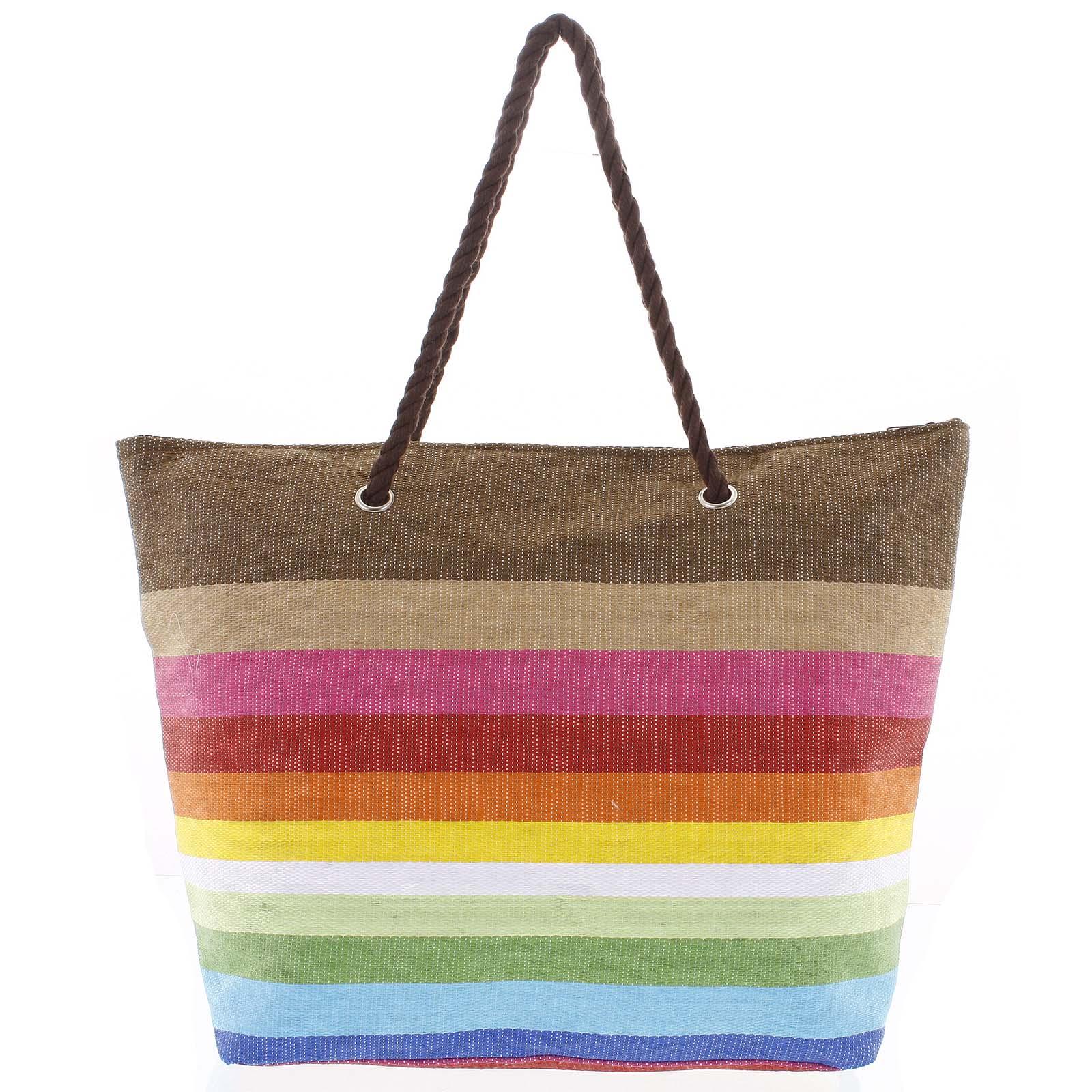 Farebná plážová taška - Delami Color New