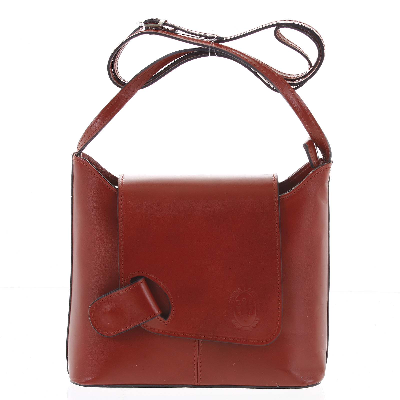 Dámska kožená crossbody kabelka červená - ItalY Misty Dark