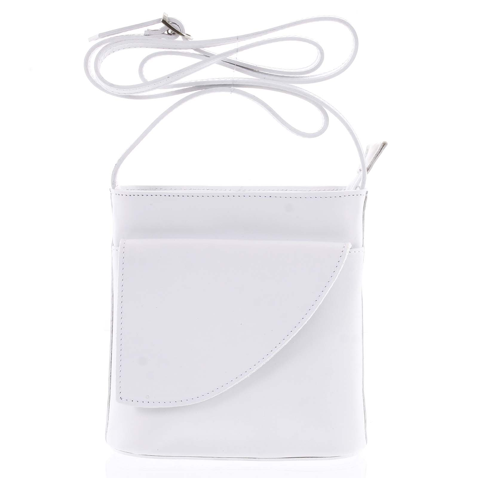 Dámska kožená crossbody kabelka biela - ItalY Cora Light