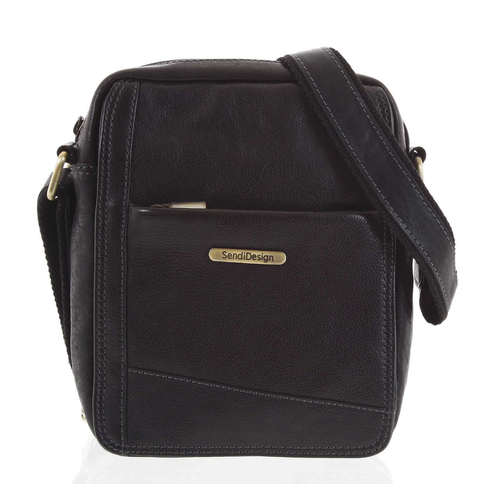 Pánska kožená taška na doklady čierna - SendiDesign Eser
