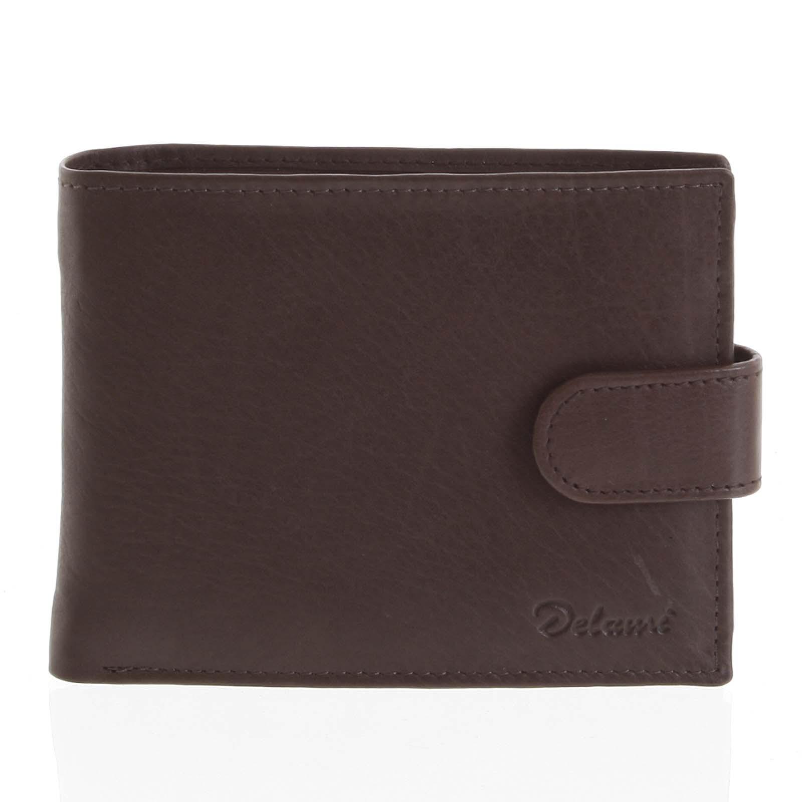 Kožená peňaženka hnedá - Delami 8693