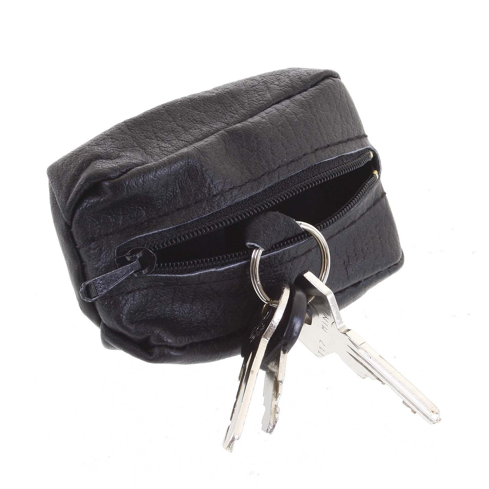 Kožená kľúčenka SendiDesign čierna - KL002 Wide