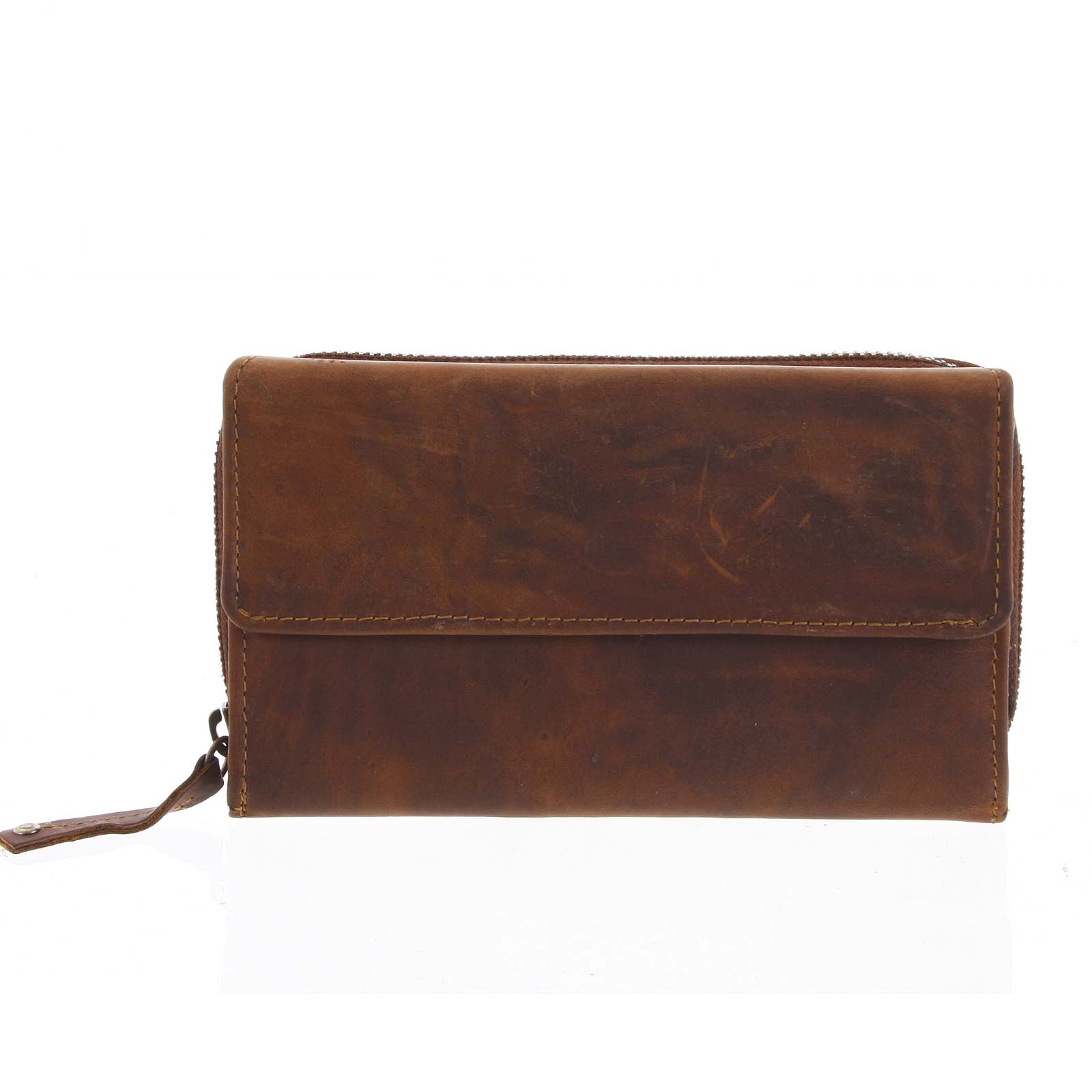 Dámska kožená peňaženka hnedá - Tomas Menmaiya