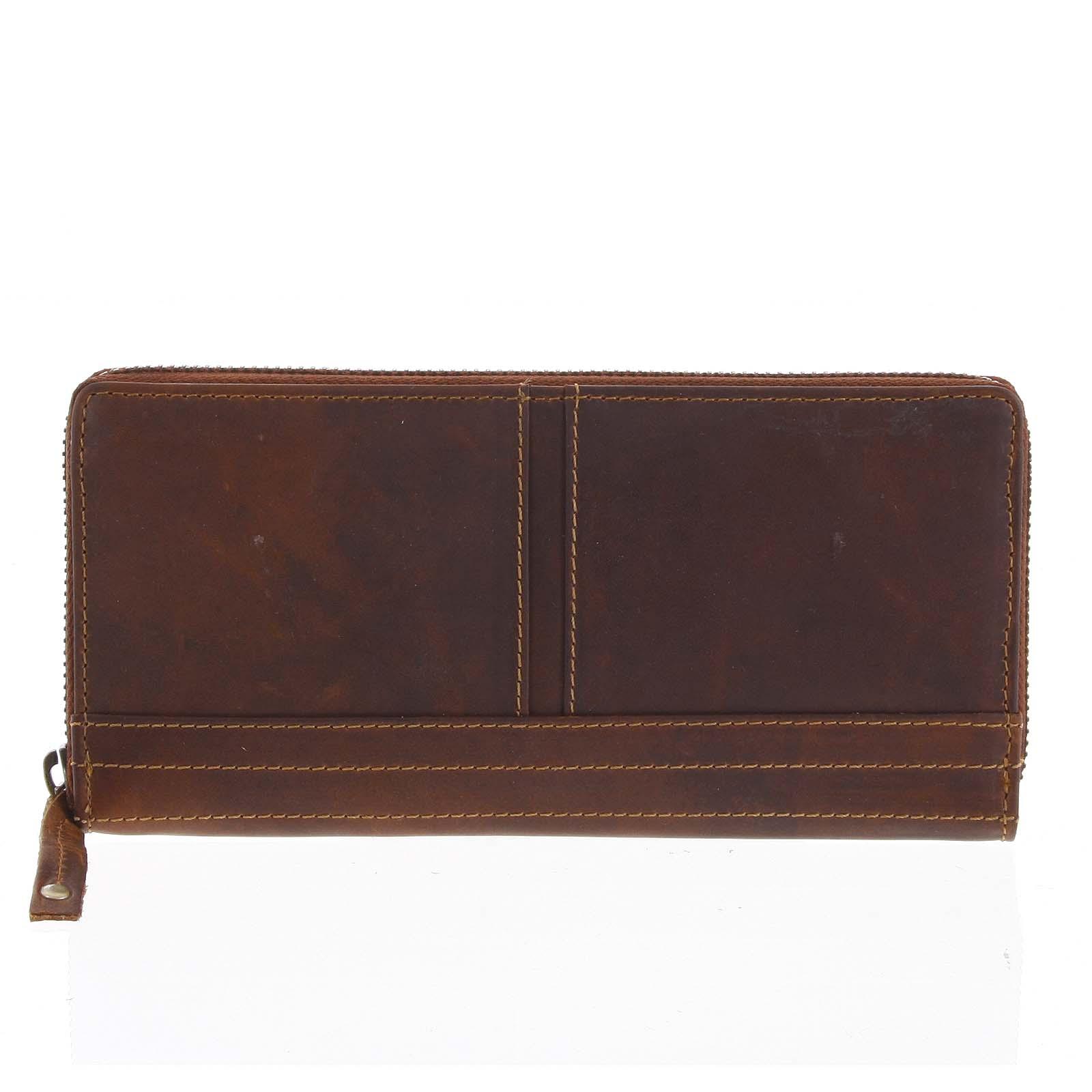 Dámska kožená peňaženka hnedá - Tomas Xambo