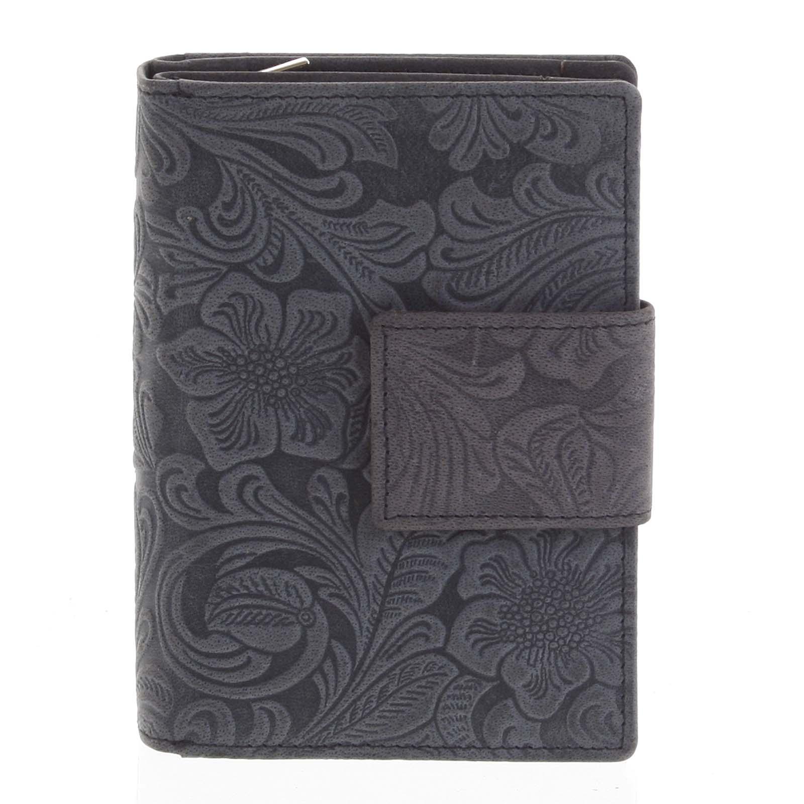Dámska kožená peňaženka antracitová - Tomas Intya