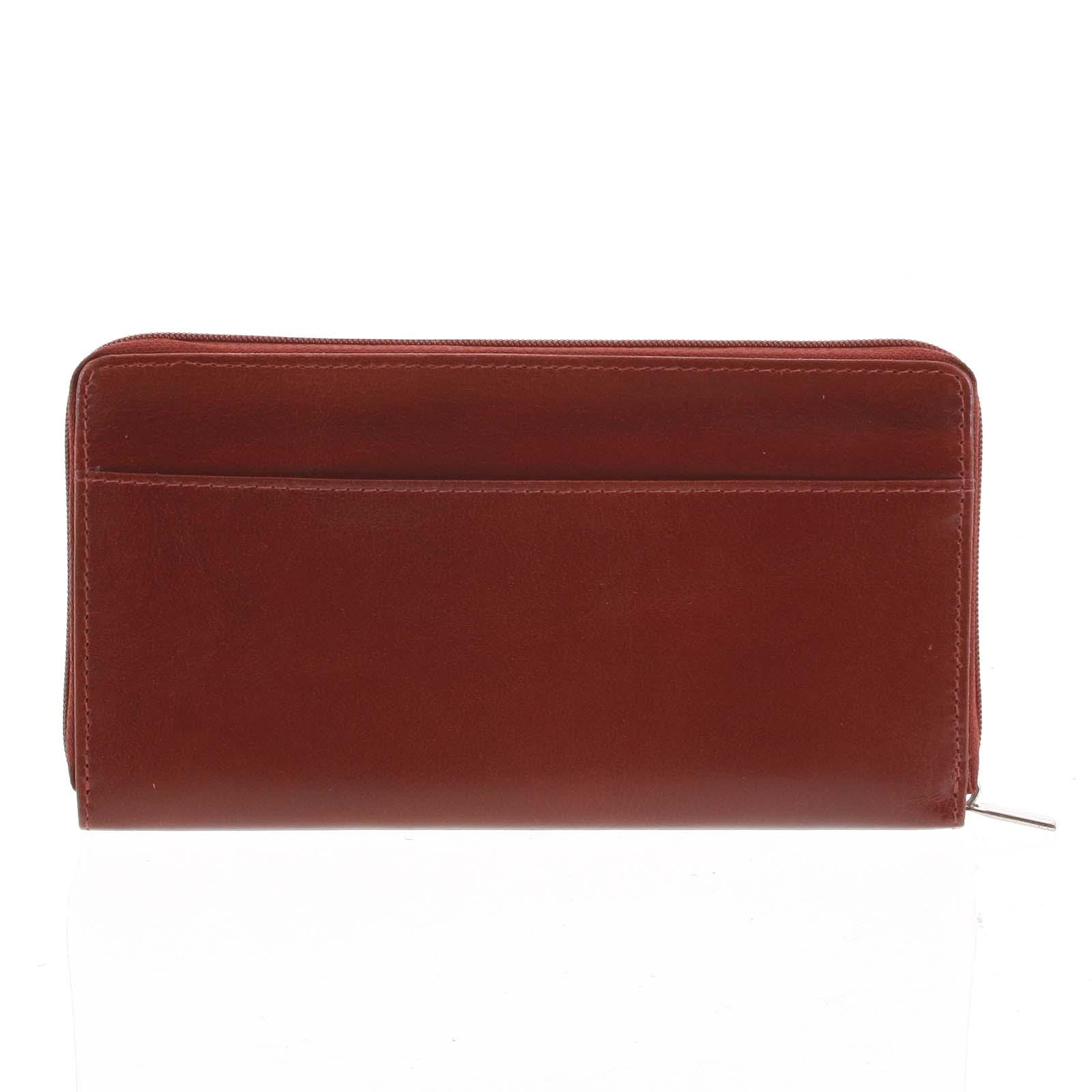 Dámska kožená peňaženka tmavočervená - Tomas Imvilophu