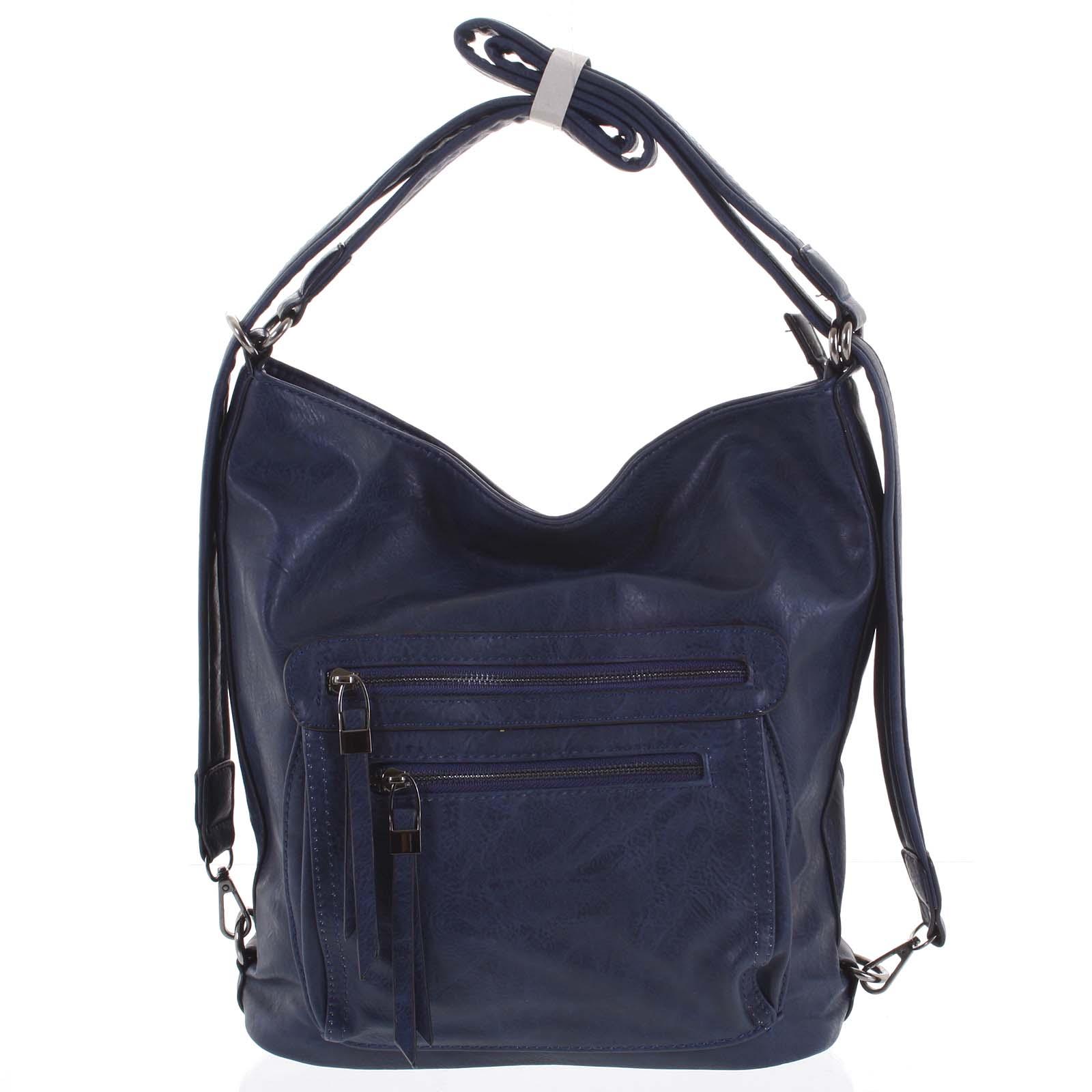 Dámska kabelka batoh modrá - Romina Jaylyn