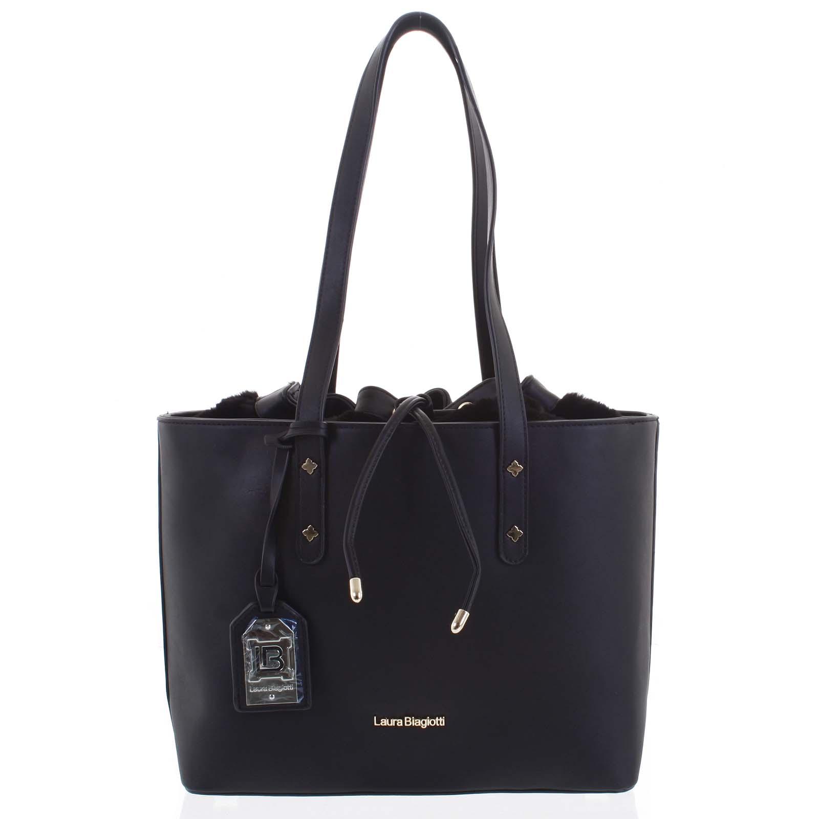 Dámska kabelka cez plece čierna - Laura Biagiotti Violet
