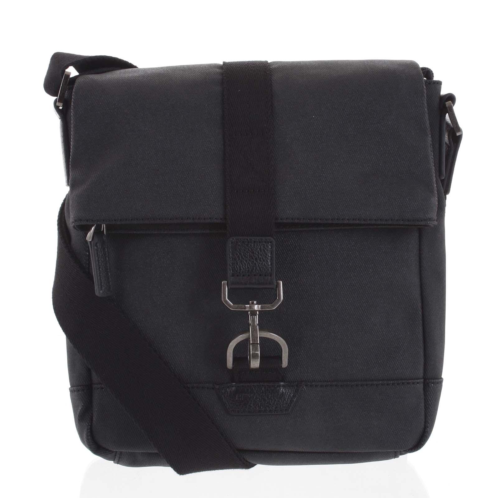 Pánska taška cez plece čierna - Hexagona Bennio