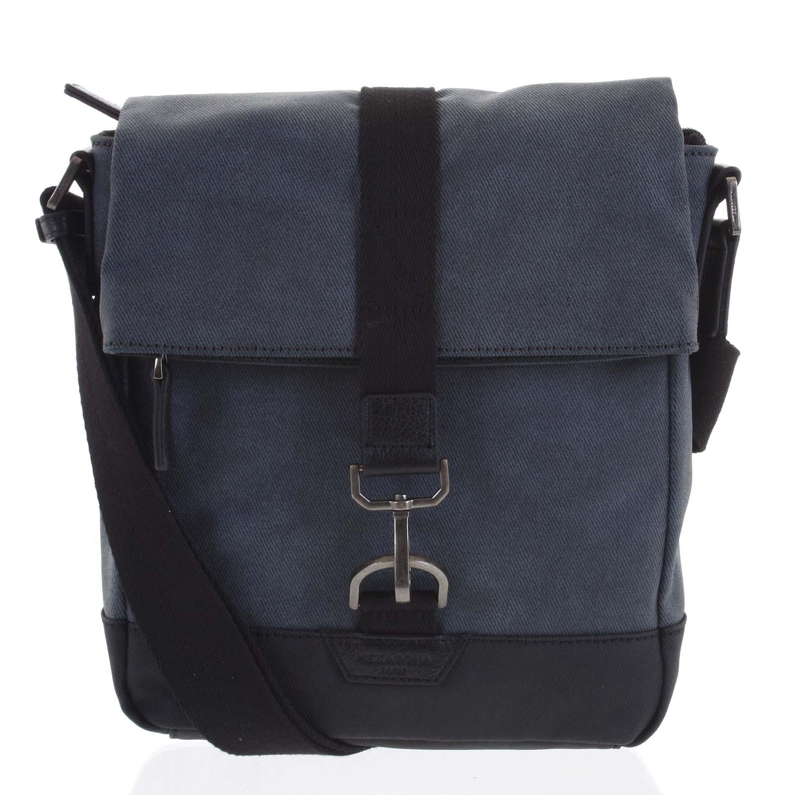 Pánska taška cez plece modrá - Hexagona Bennio