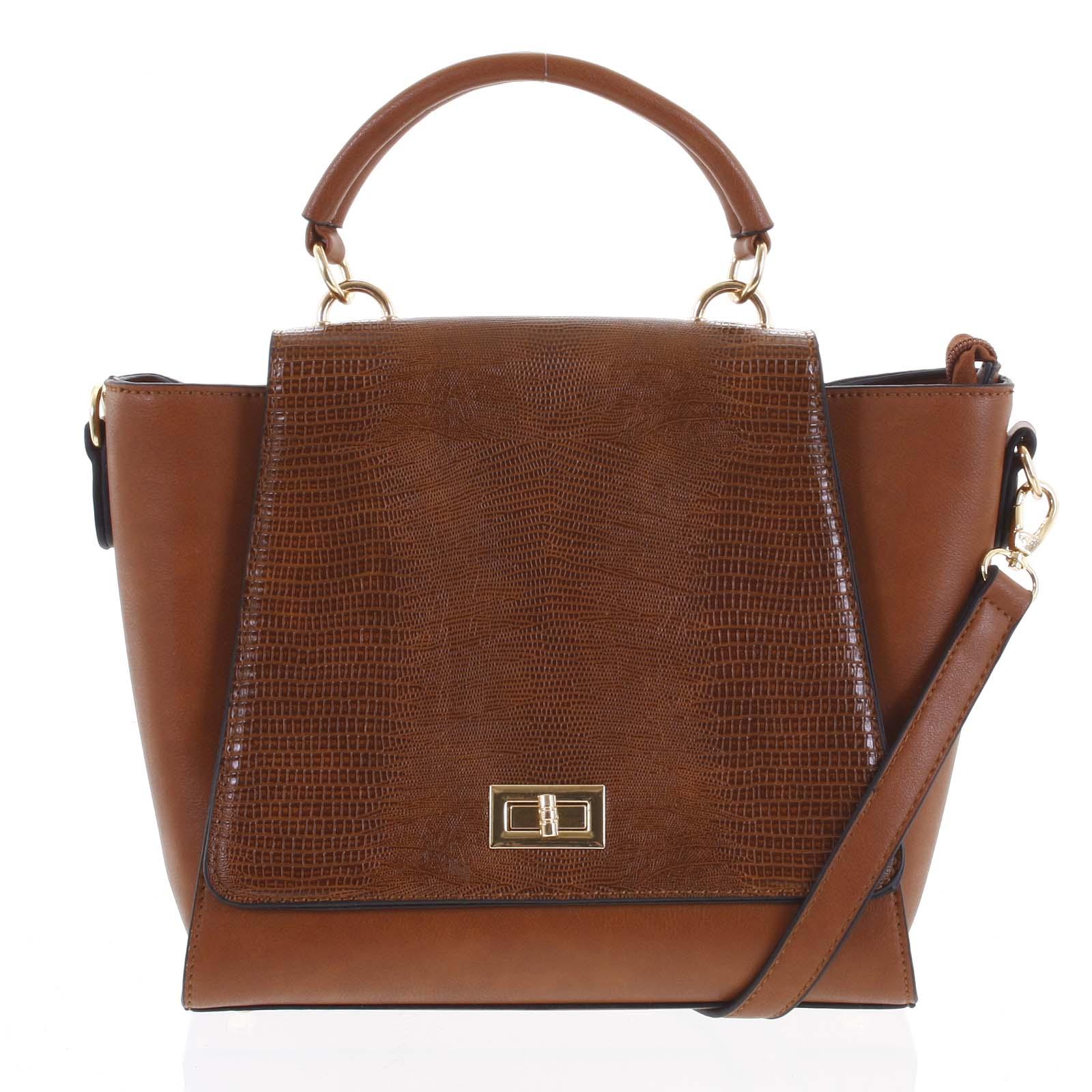 Dámska kabelka do ruky svetlo hnedá - Dudlin Mirla