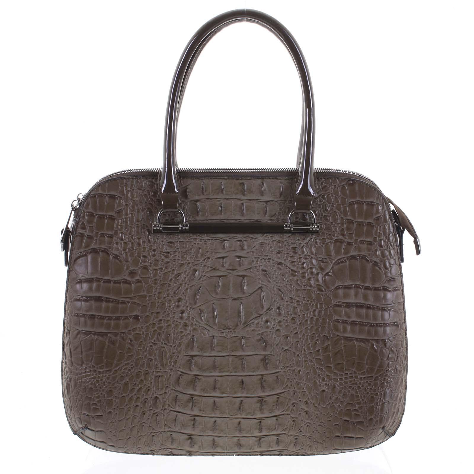Dámska kabelka do ruky taupe - Dudlin Lexi