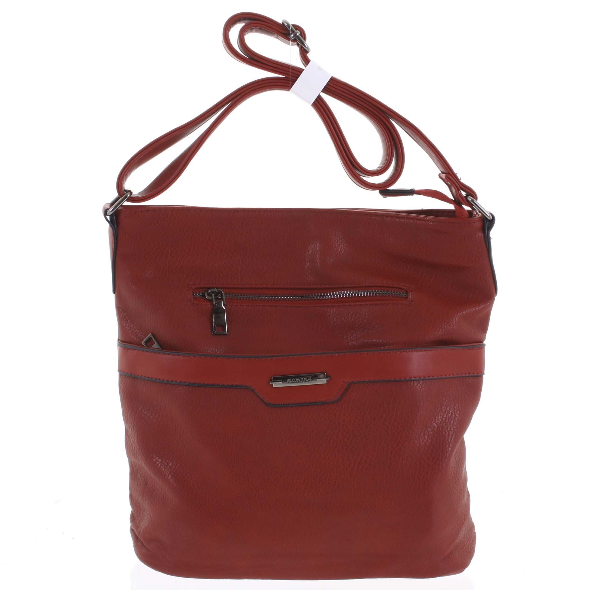 Dámska crossbody kabelka tmavočervená - Romina Elmina