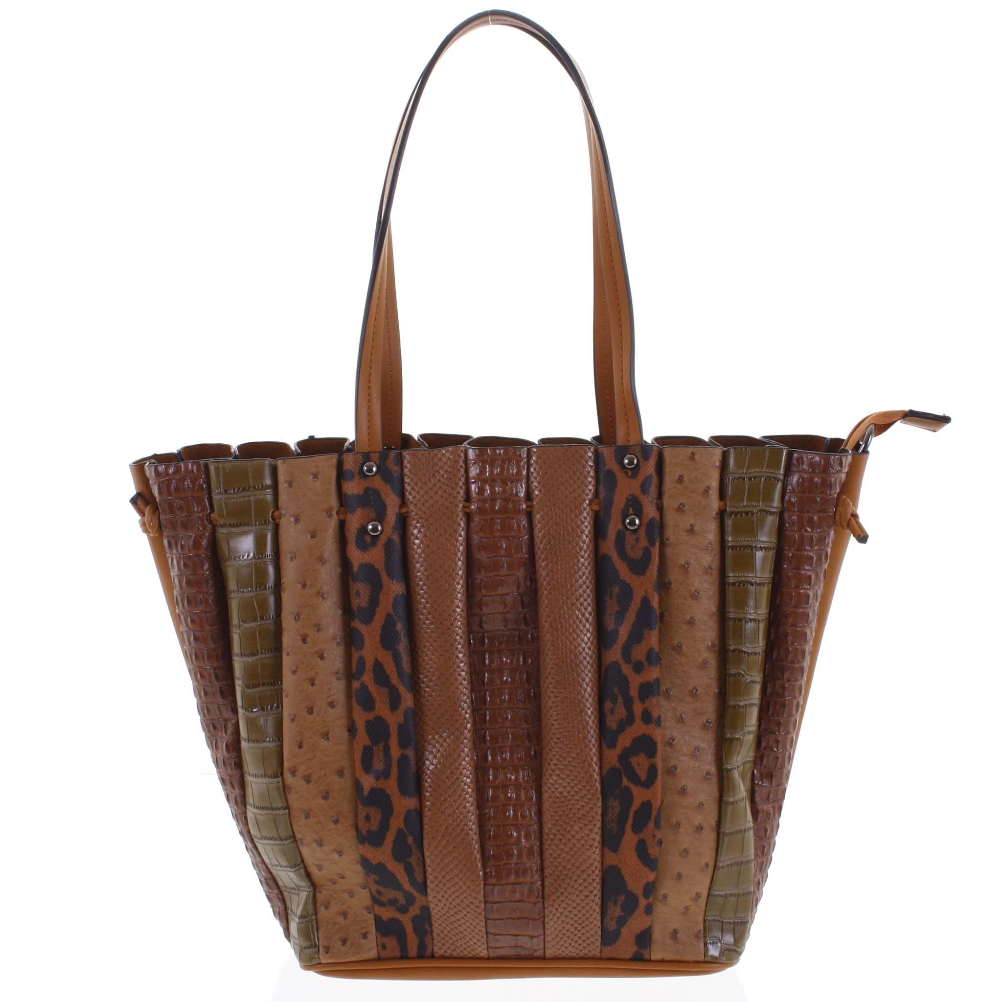 Dámska kabelka cez rameno hnedá - Dudlin Tola