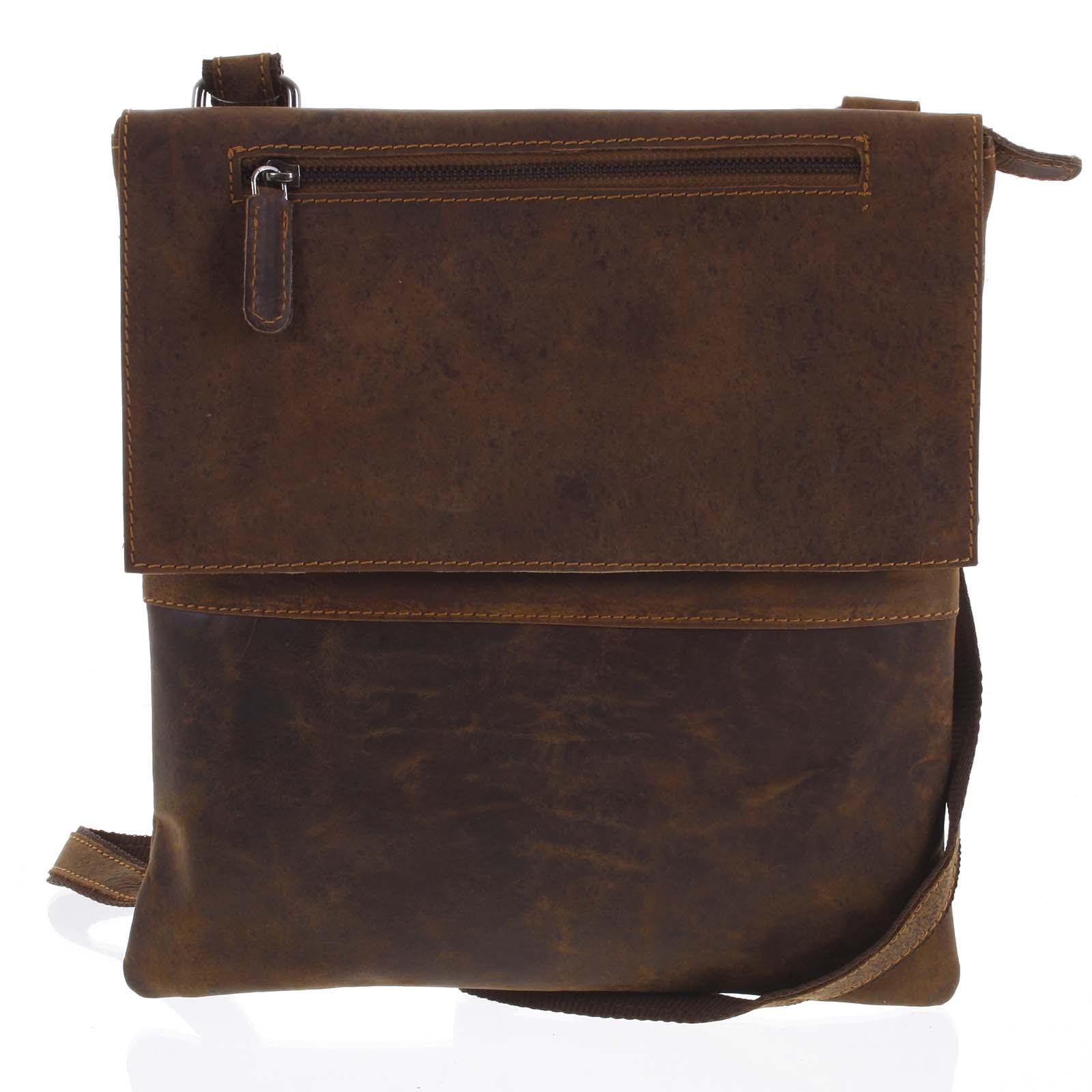 Pánska kožená taška na doklady hnedá - Greenwood Olesimos