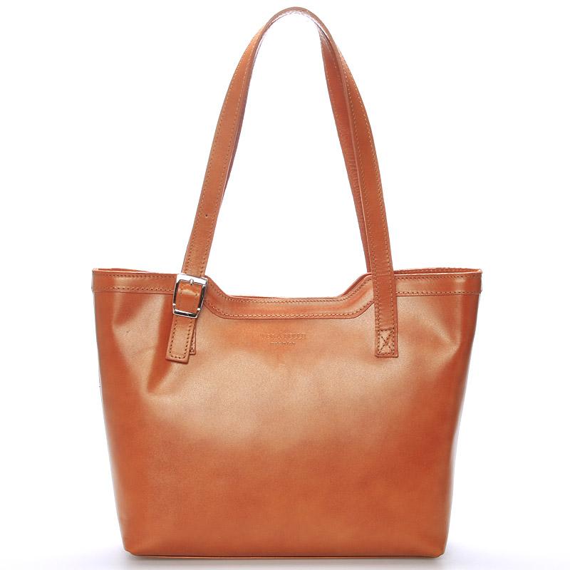 Svetlo hnedá elegantná kožená kabelka ItalY Melisa