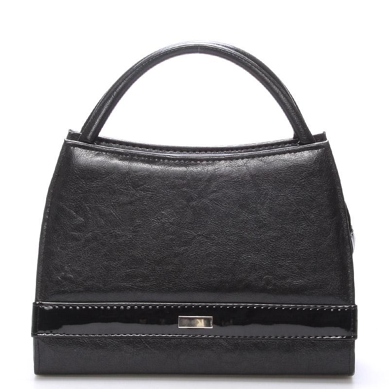 Čierna menšia kabelka do spoločnosti Royal Style s ornamentom S001