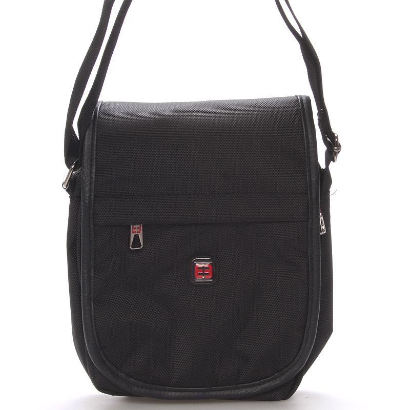 Unisex čierna crossbody taška na tabliet - Enrico Benetti 7141