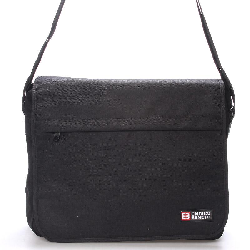 Ľahká veľká látková taška na notebook - Enrico Benetti Terd