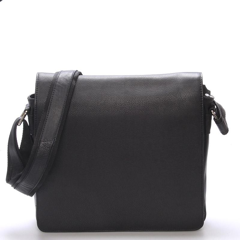 Luxusná kožená pánska čierna taška Frozen