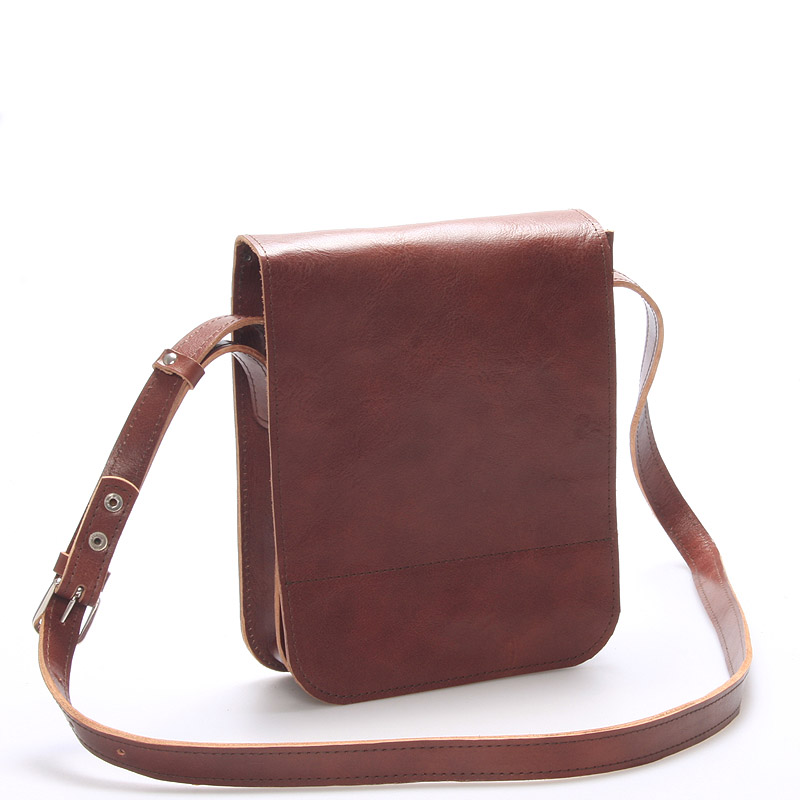 Hnedá luxusná kožená taška cez rameno KABEA ViLuxor