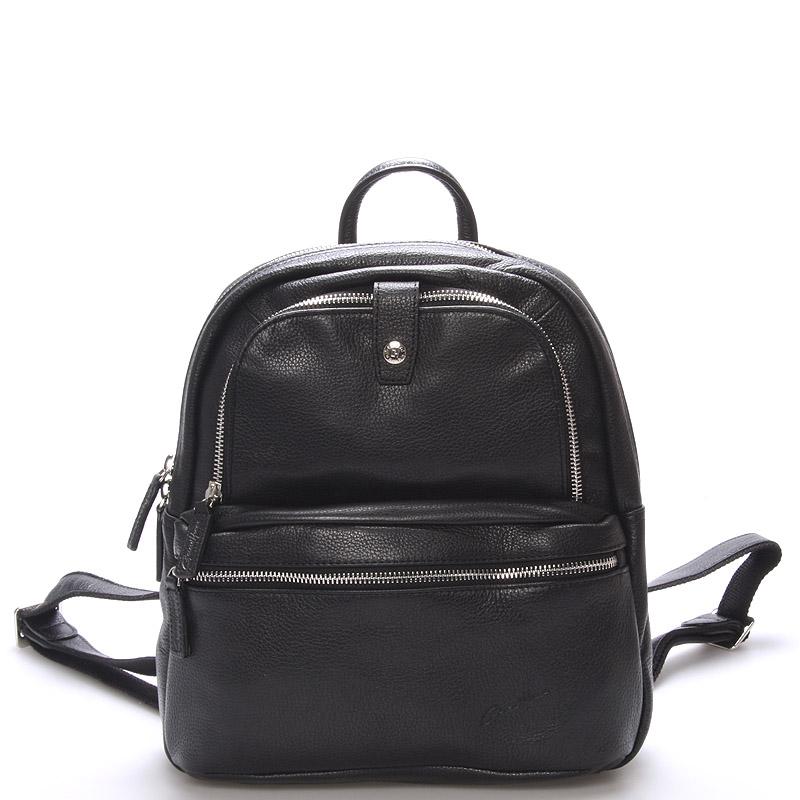 Jemný kožený dámsky batôžtek čierny - Gerard HENON Comtess