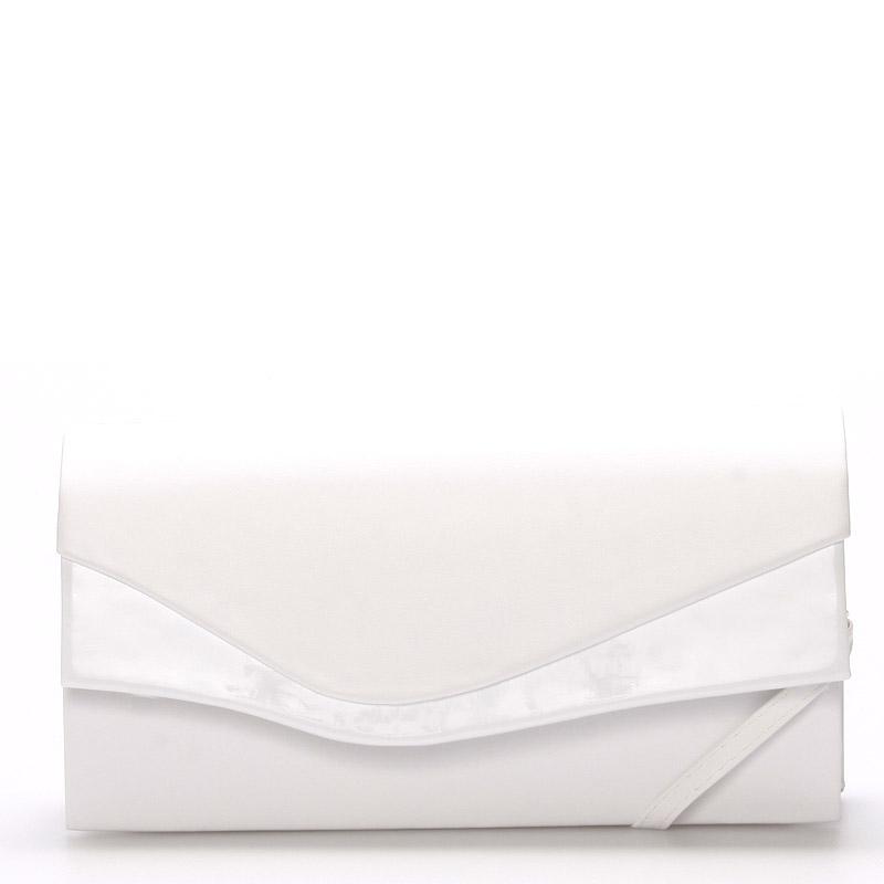 Väčšia originálna dámska listová kabelka biela matná - Delami Geelong