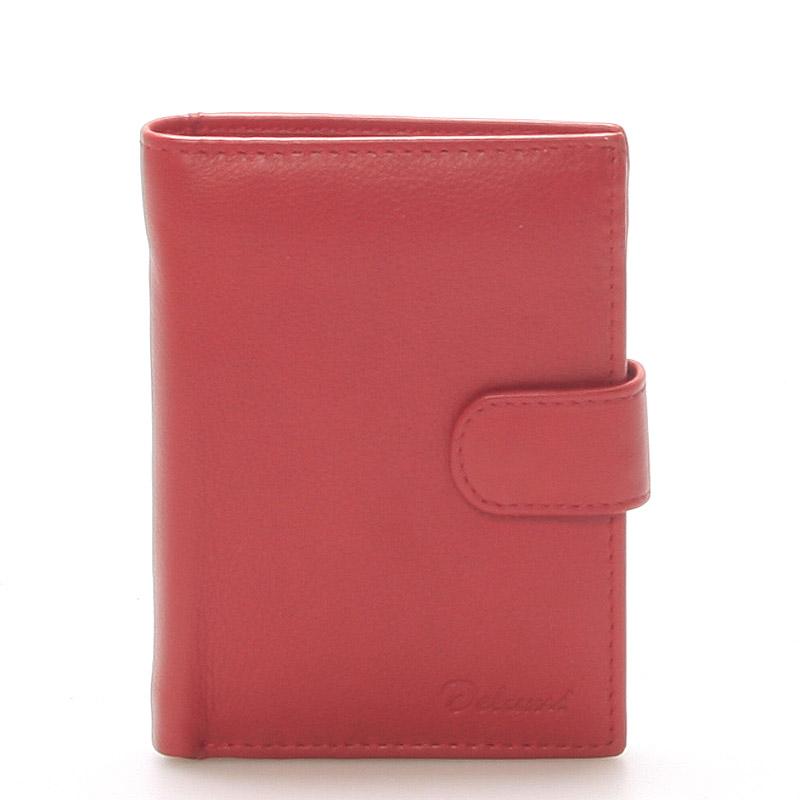 Pánska kožená červená peňaženka - Delami 8703