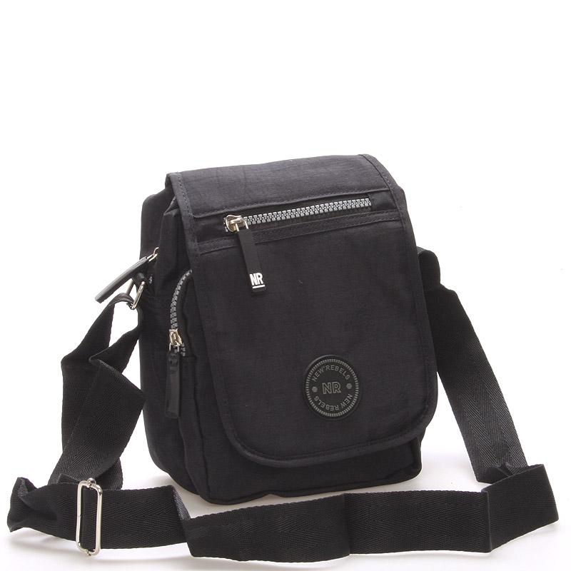 Malá športová taška na doklady čierna - New Rebels Jacob