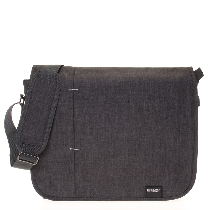 Kvalitná nylonová taška na notebook sivá - Enrico Benetti Jason