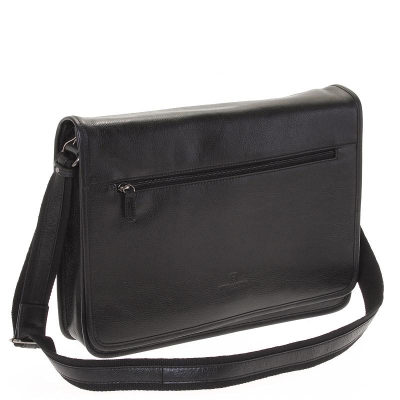 Čierna kožená taška Hexagona 123482