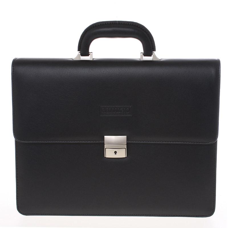 Klasická elegantná čierna aktovka - Bellugio 0402