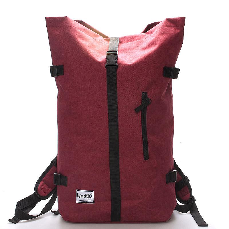 Jedinečný veľký štýlový unisex batoh červený New Rebels Rebback