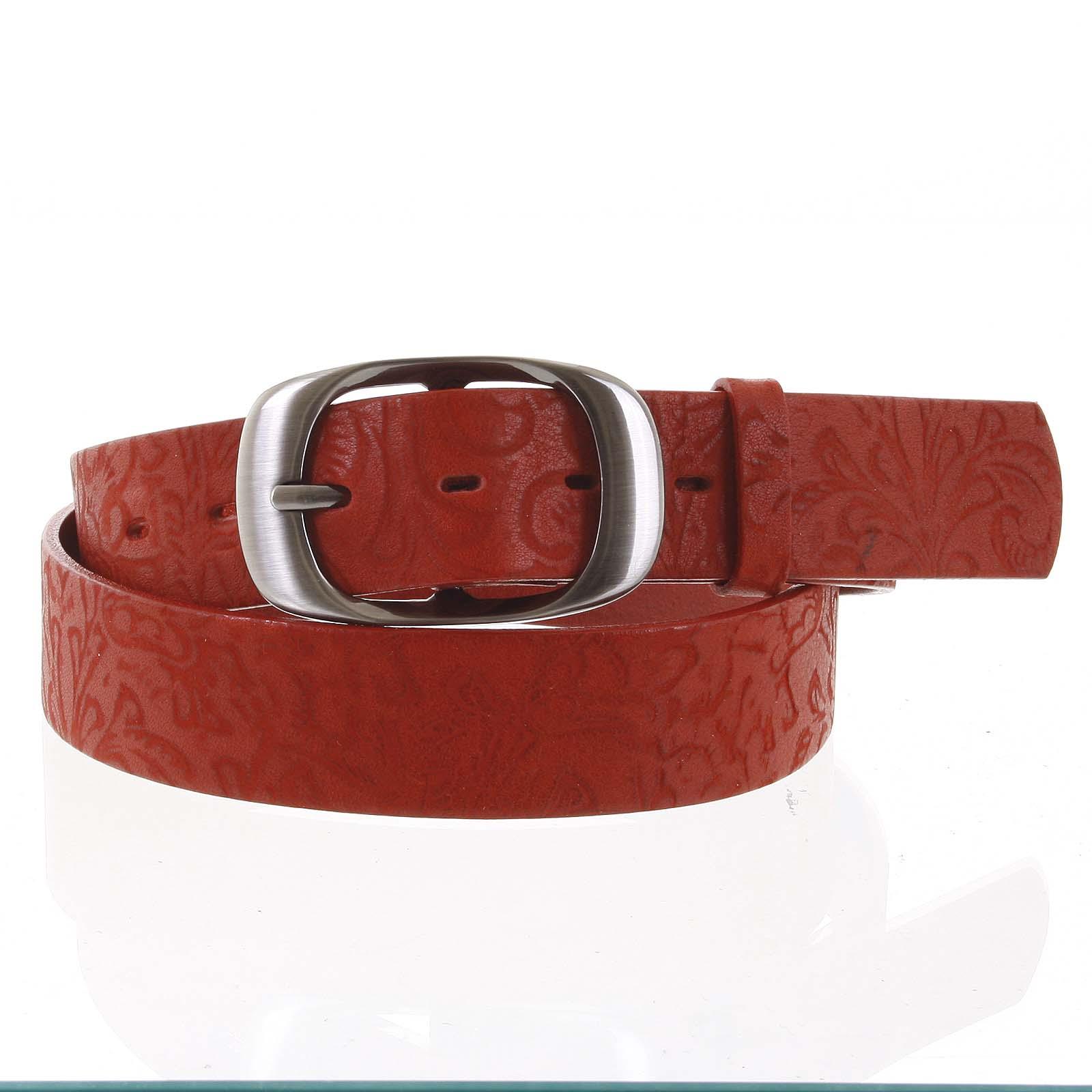 Dámsky kožený opasok červený - PB Spar 95