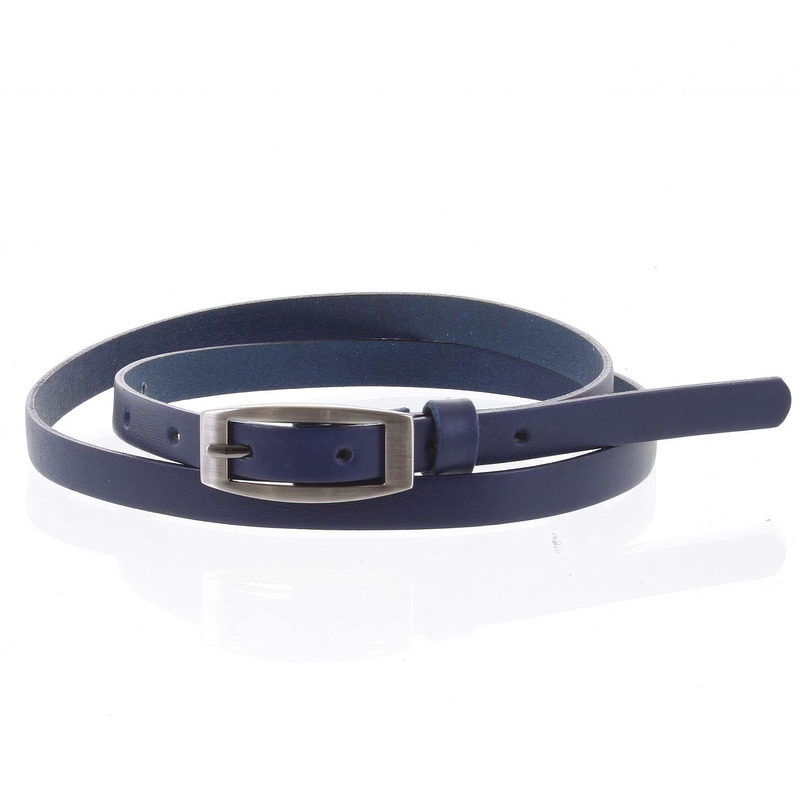 Dámsky kožený opasok modrý - PB Zion 95