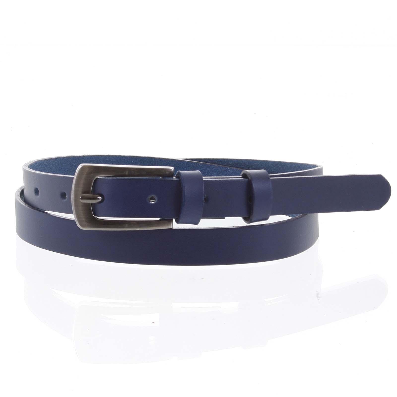 Dámsky kožený opasok modrý - PB Rath 90