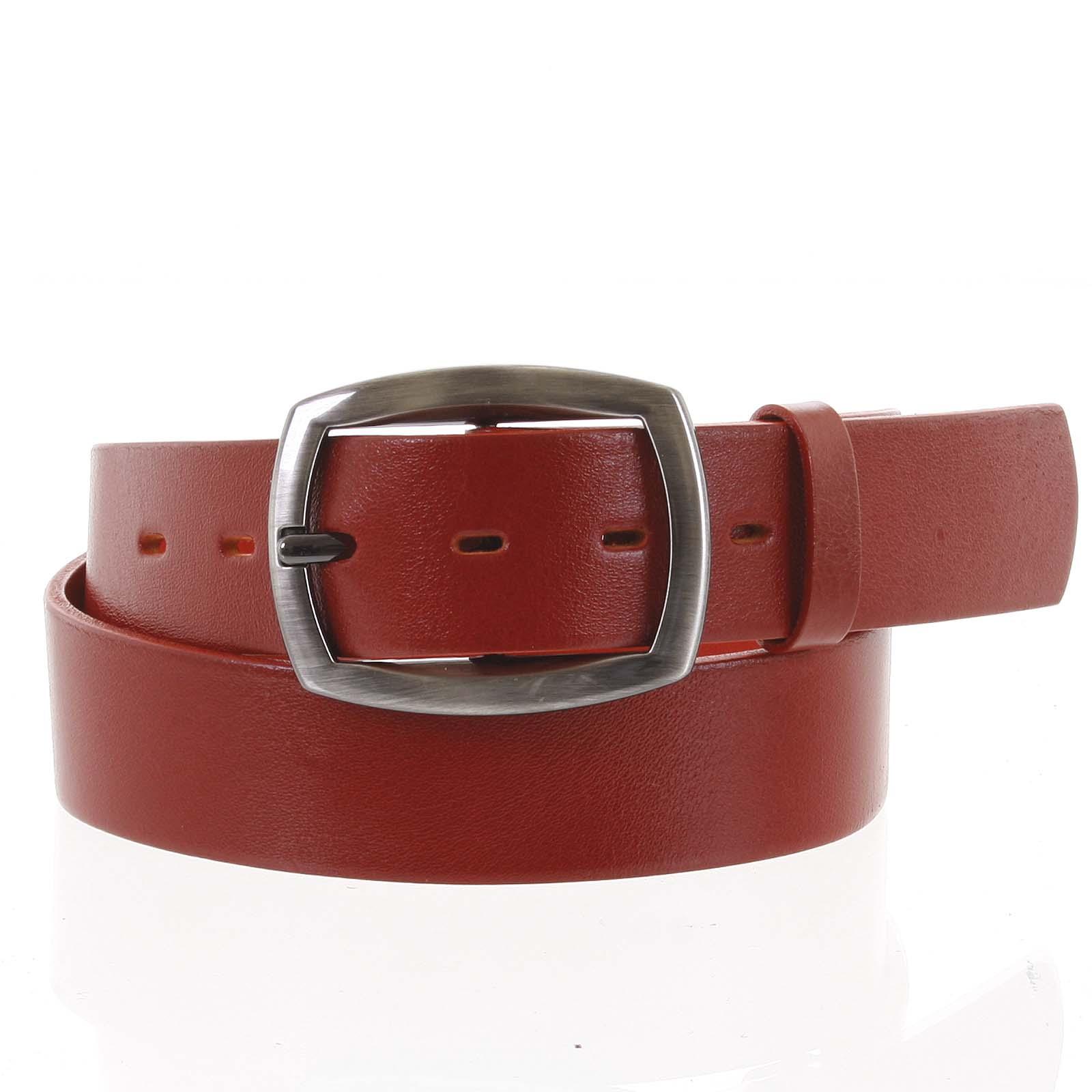 Dámsky kožený opasok červený - PB Spain 90