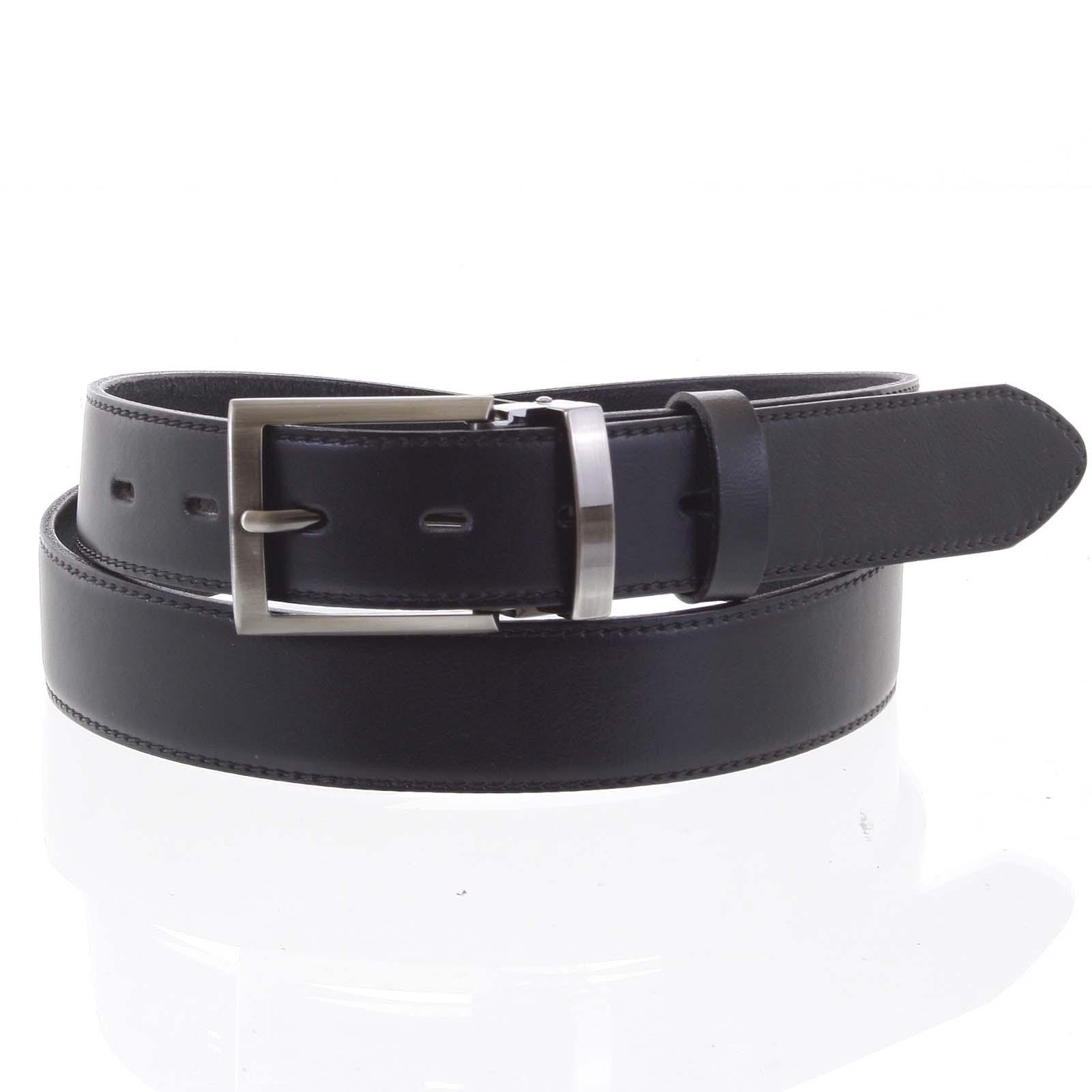 Pánsky kožený opasok oblekový čierny - PB Reph 105