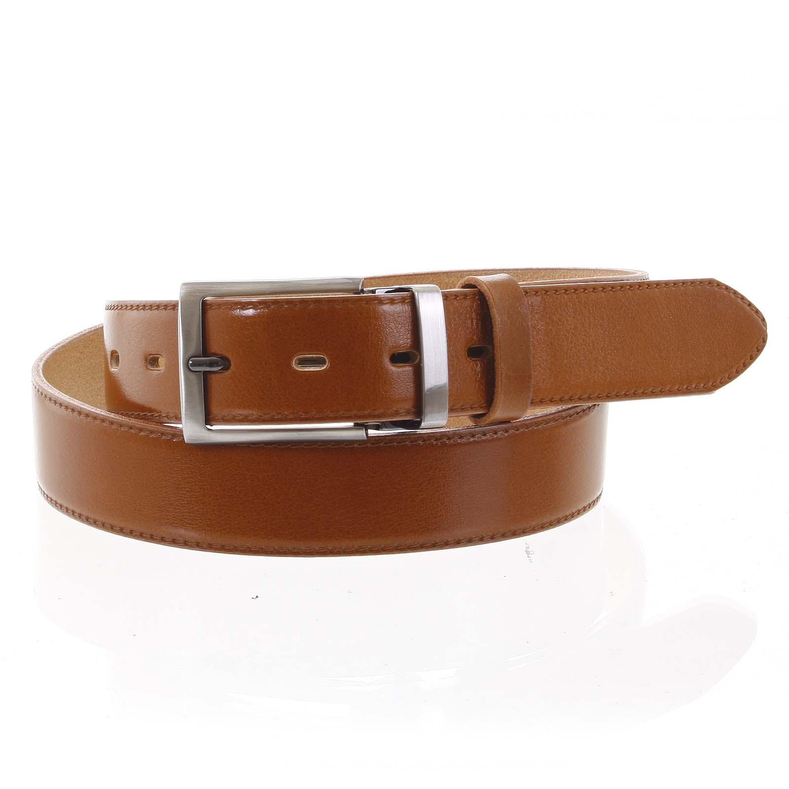Pánsky kožený opasok oblekový koňak - PB Reph 95