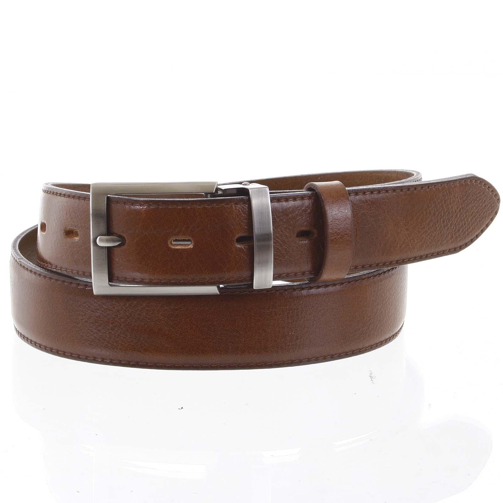 Pánsky kožený opasok oblekový hnedý - PB Reph 95