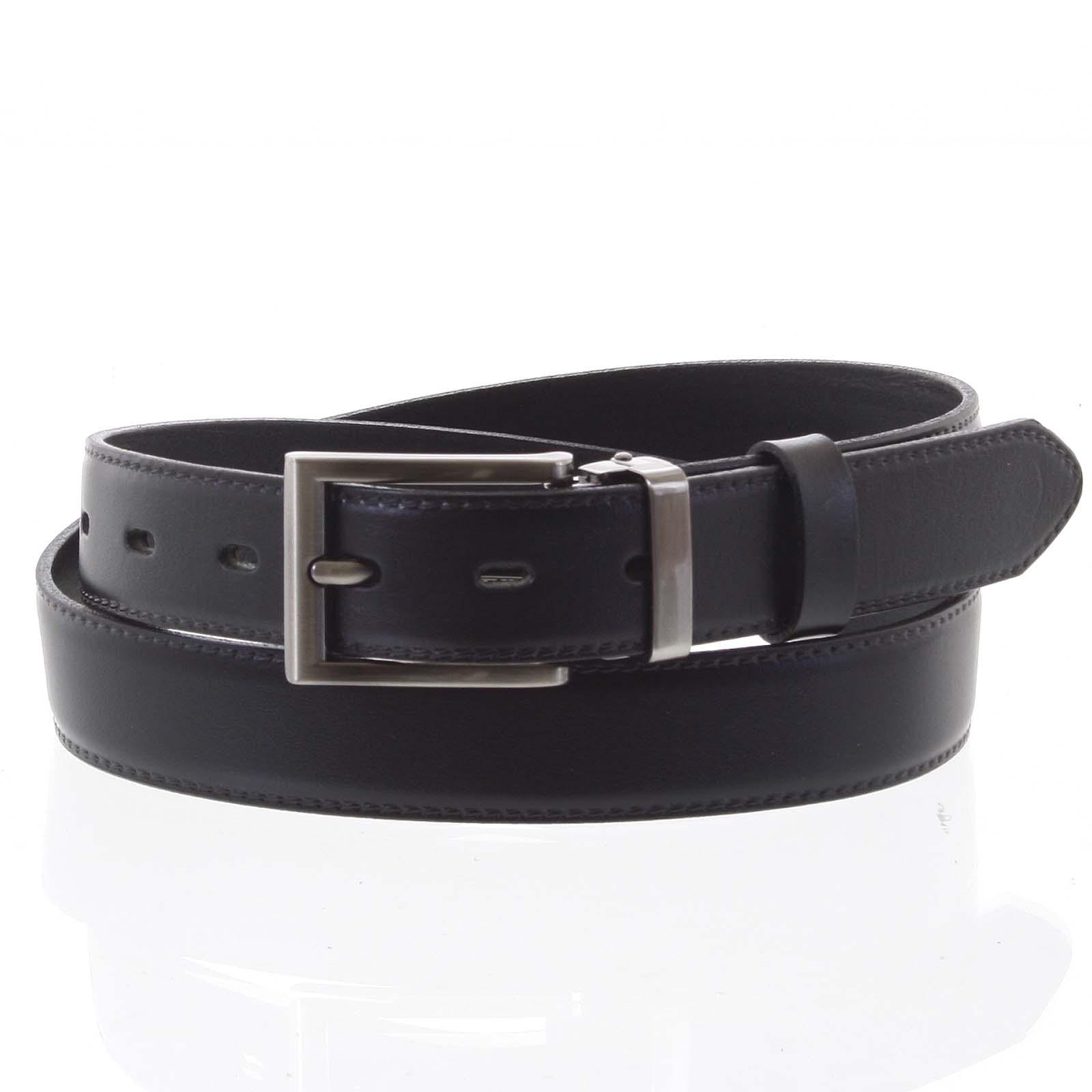 Pánsky kožený opasok oblekový čierny - PB Labim 115