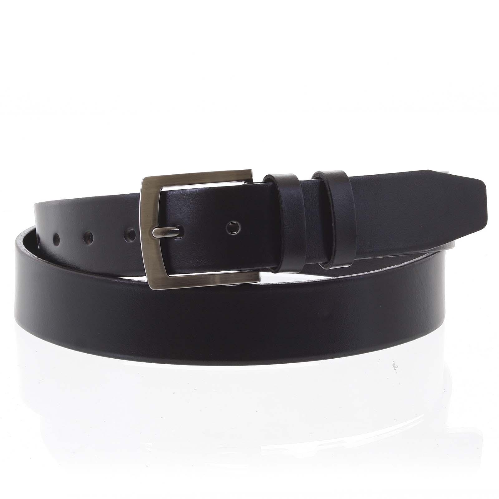 Pánsky kožený opasok jeansový čierny - PB Stach 95
