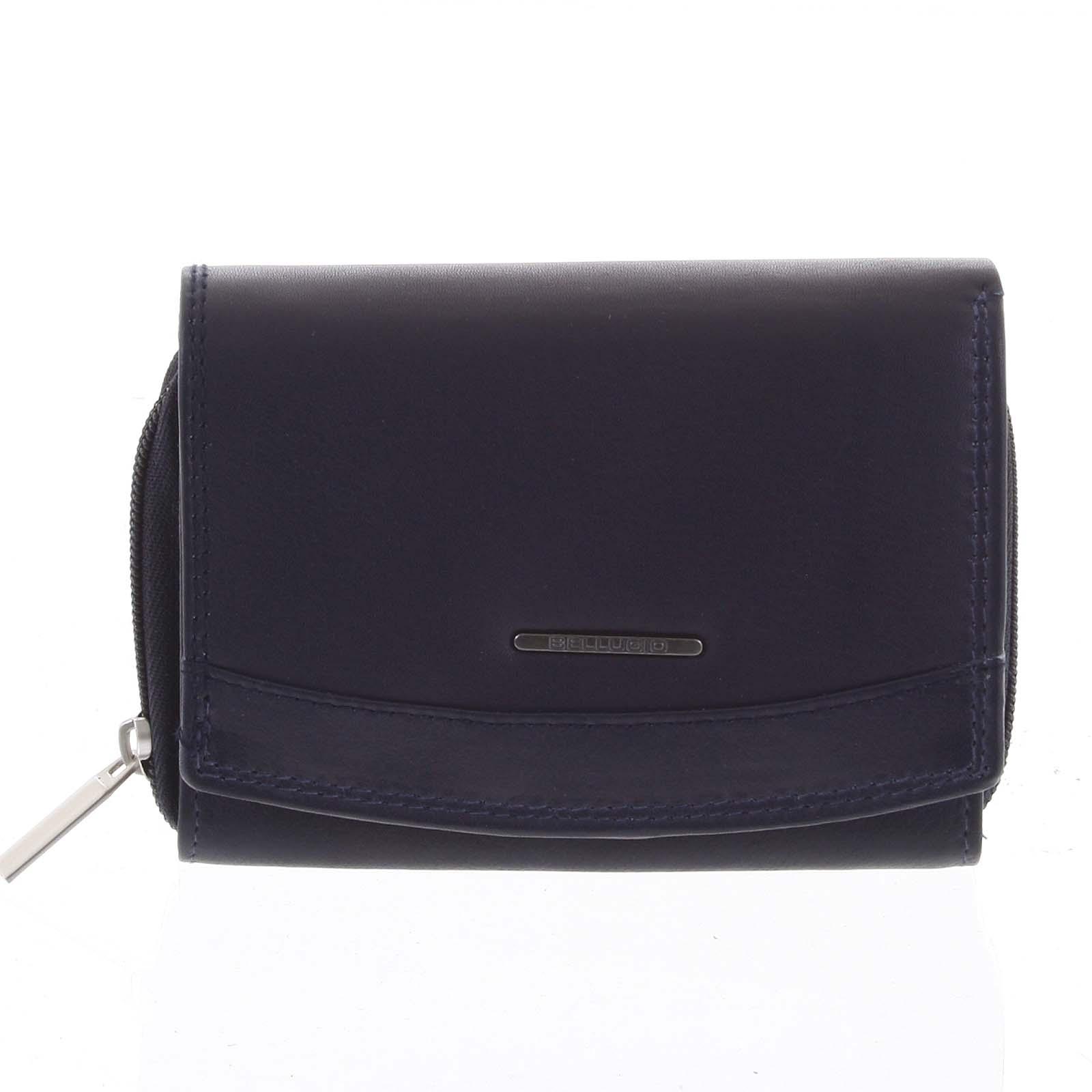 Dámska kožená peňaženka modrá - Bellugio Smith