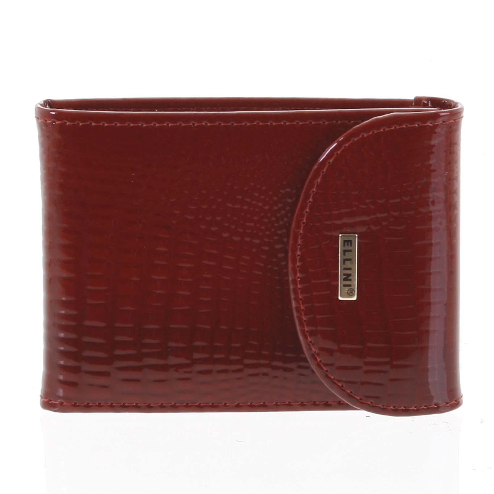 Luxusné kožené puzdro na kreditné karty červené - Ellini Cher