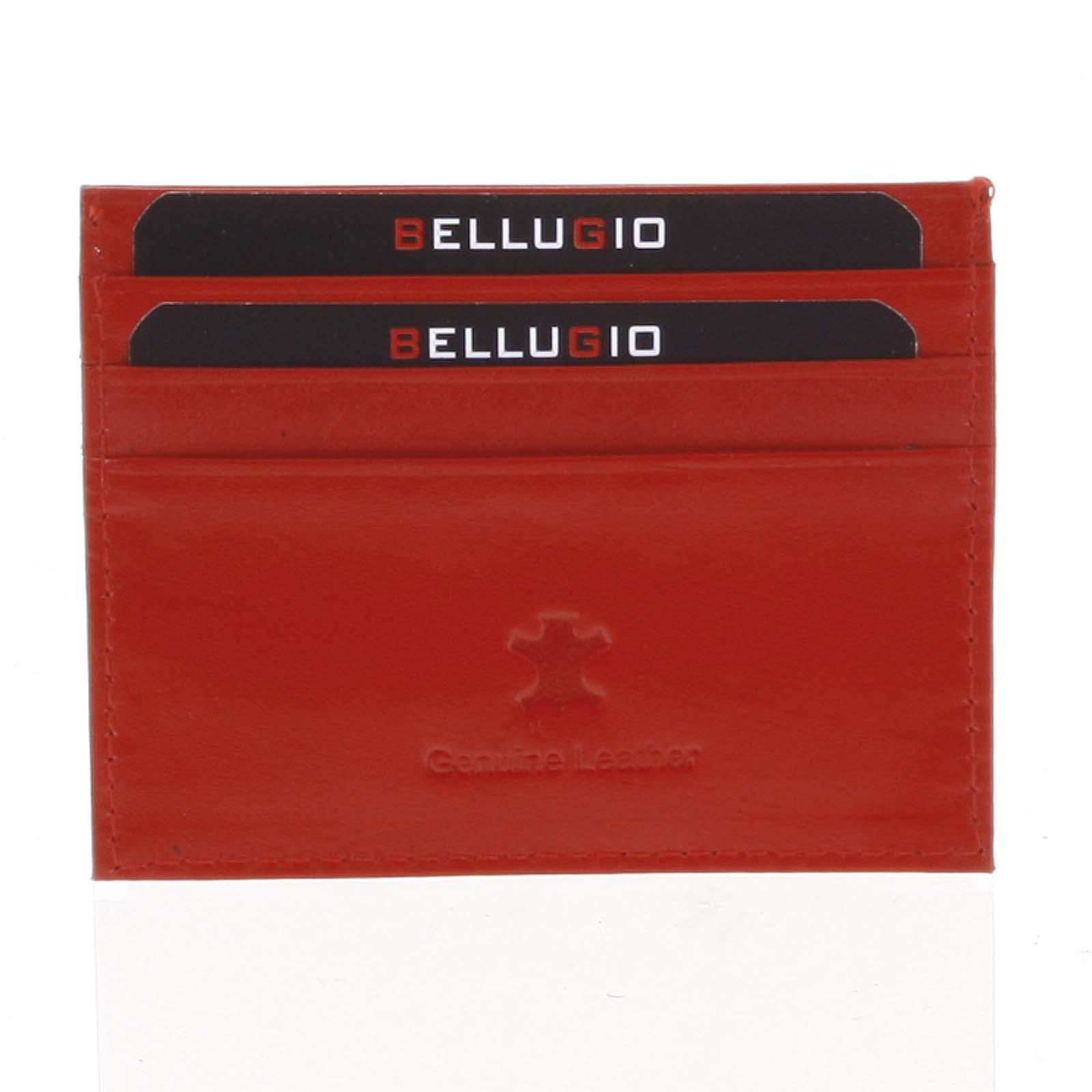 Kožené puzdro na kreditné karty červené - Bellugio 1001