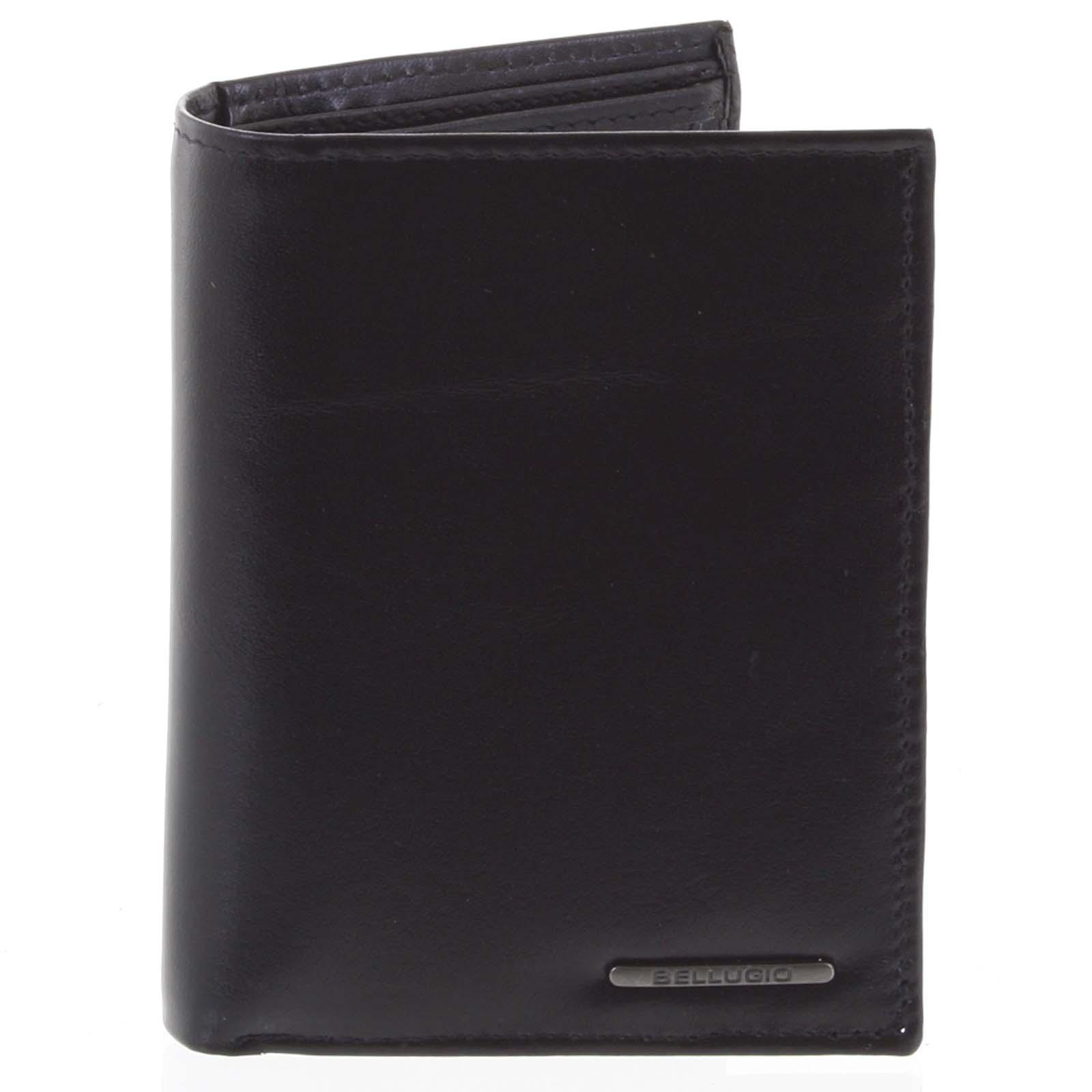 Pánska hladká kožená peňaženka čierna - Bellugio Cadmus