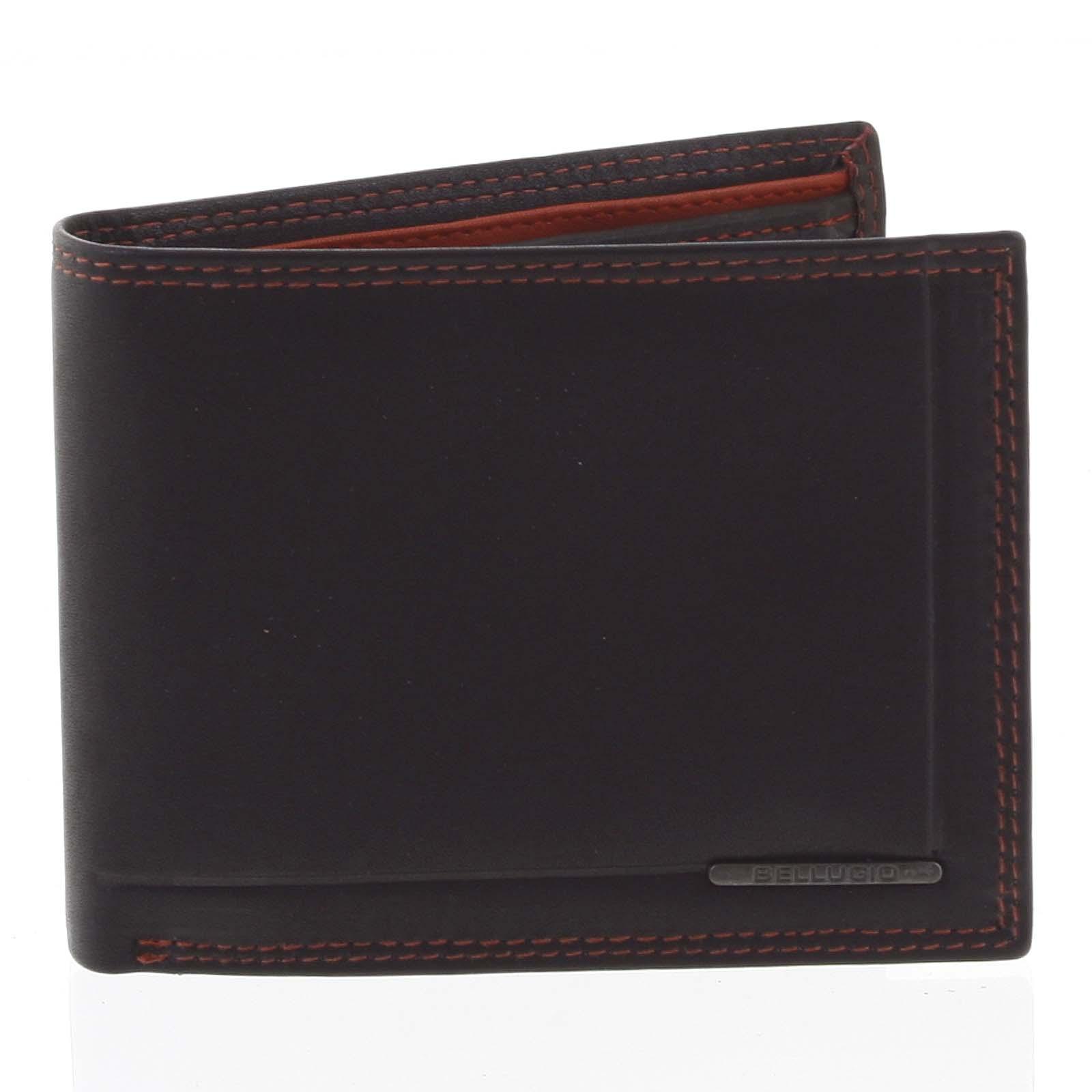 Pánska voľná prešívaná peňaženka čierna - Bellugio Pann
