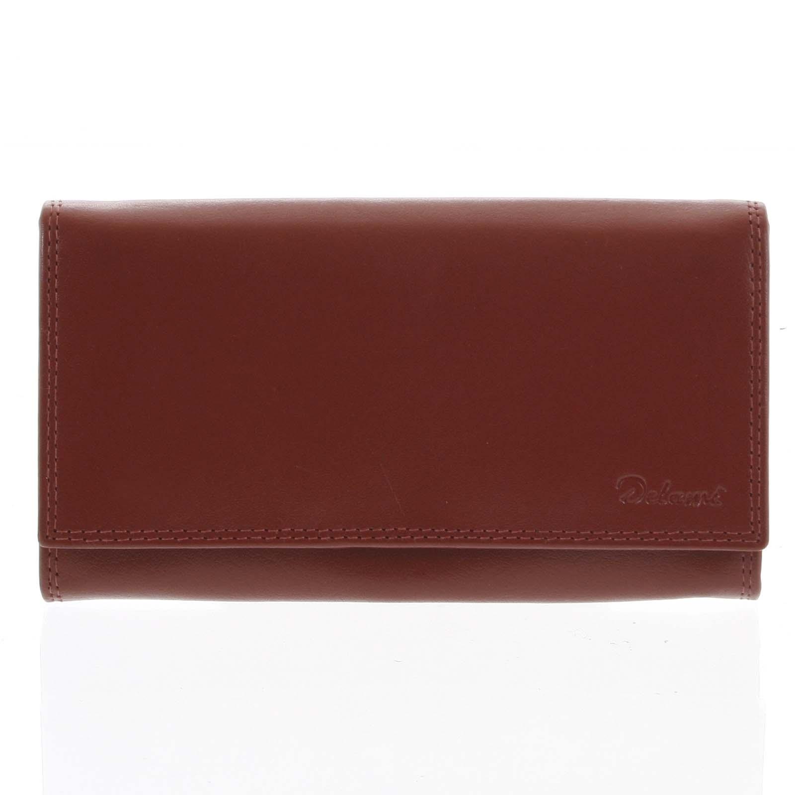 Dámska kožená peňaženka červená - Delami Wandy